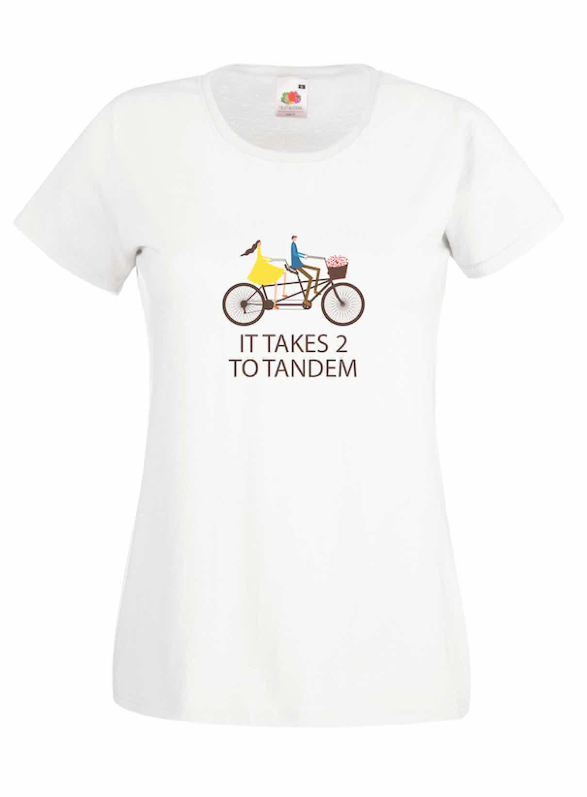 It Takes 2 To Tandem design for t-shirt, hoodie & sweatshirt