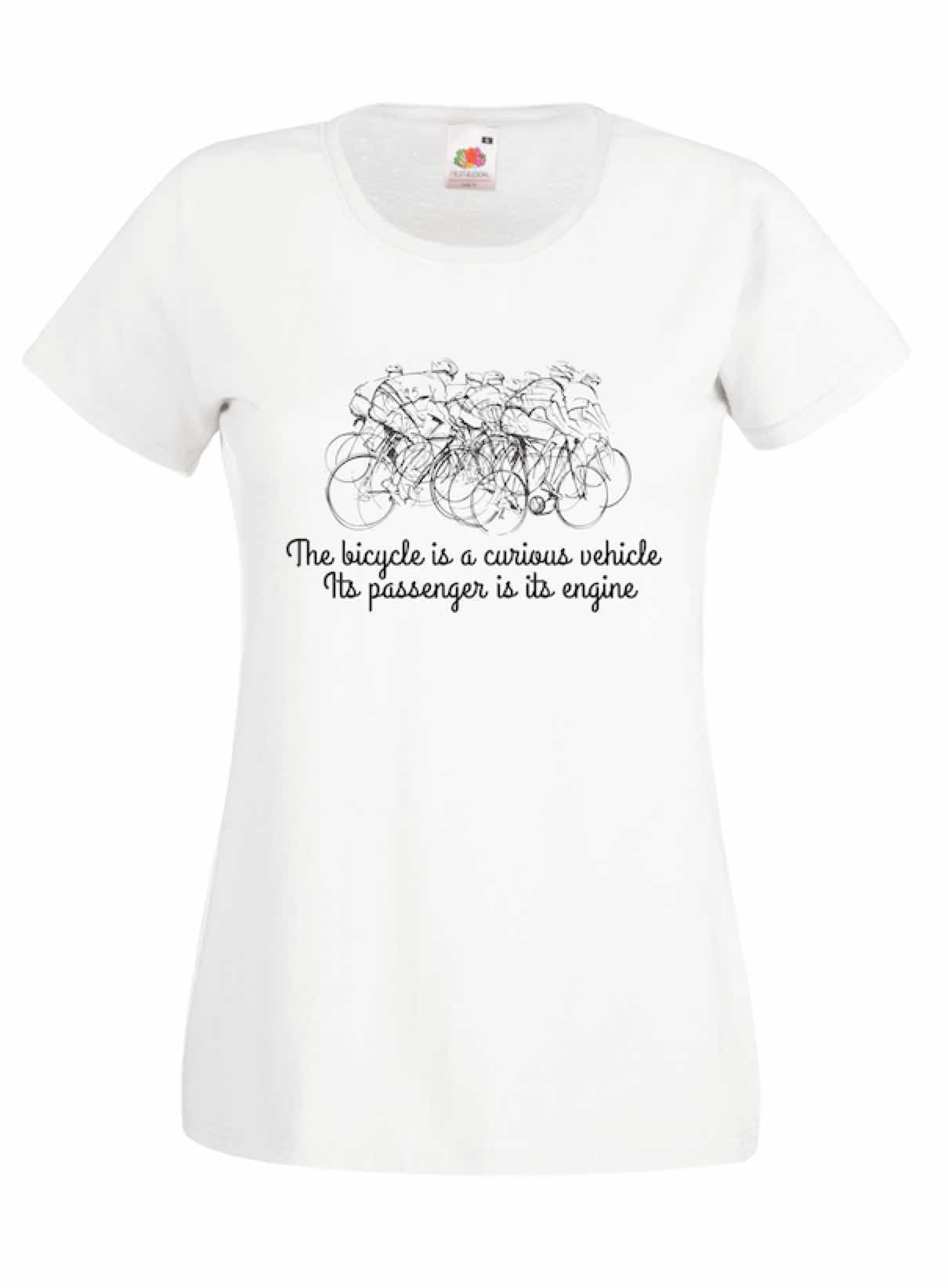 The Bicycle Is Curious design for t-shirt, hoodie & sweatshirt
