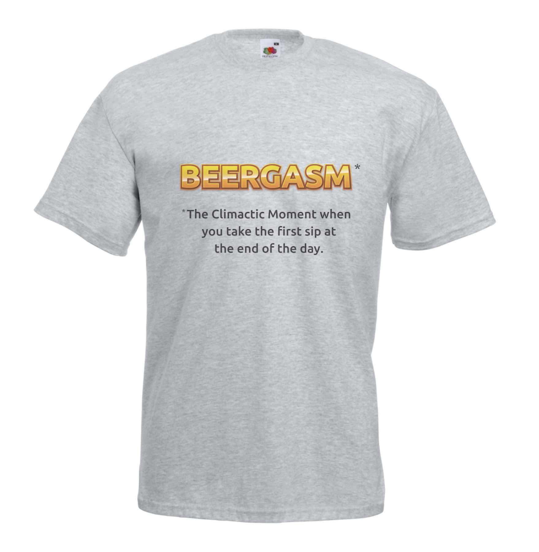 Beergasm design for t-shirt, hoodie & sweatshirt