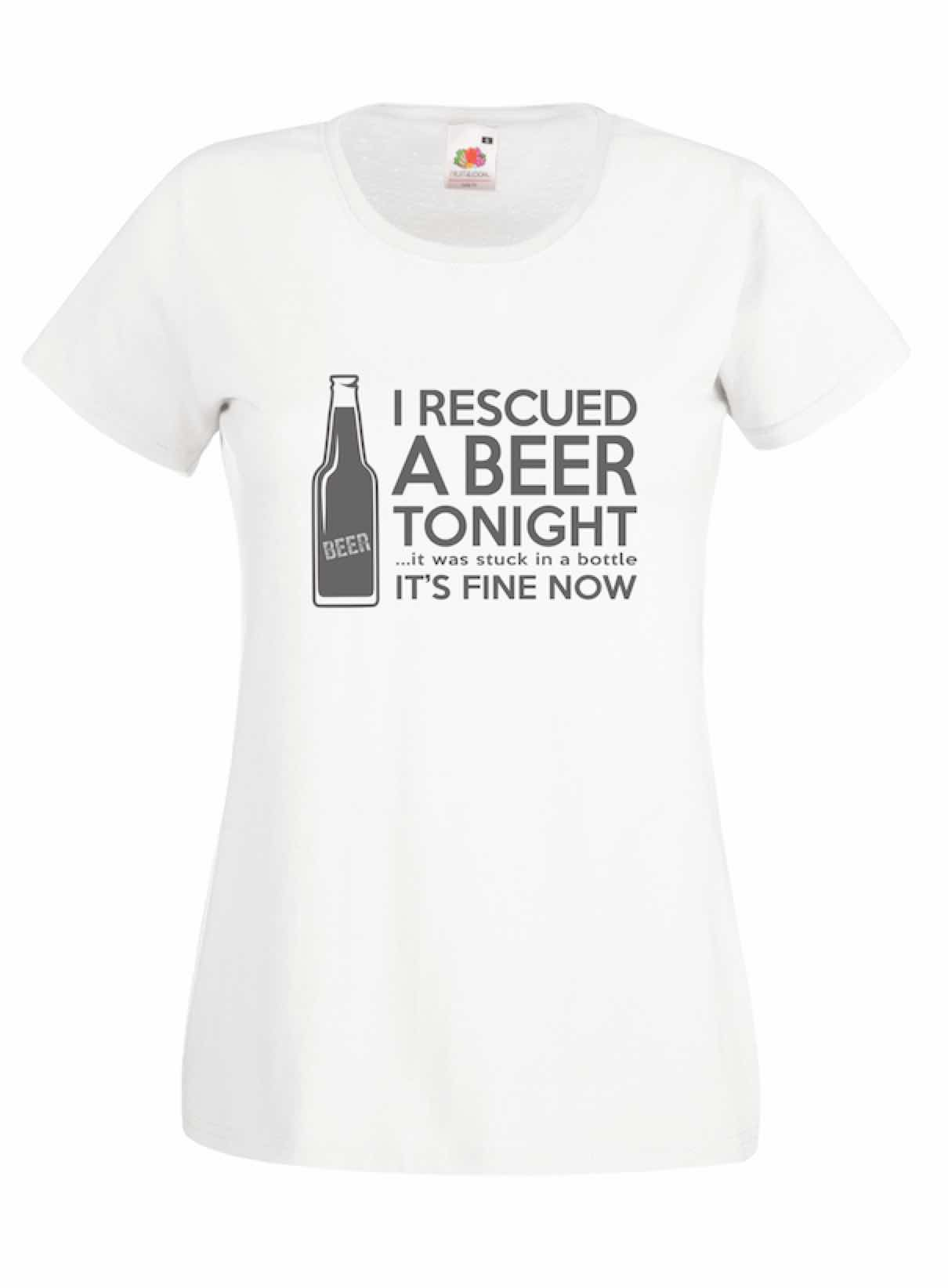 I Rescued A Beer design for t-shirt, hoodie & sweatshirt