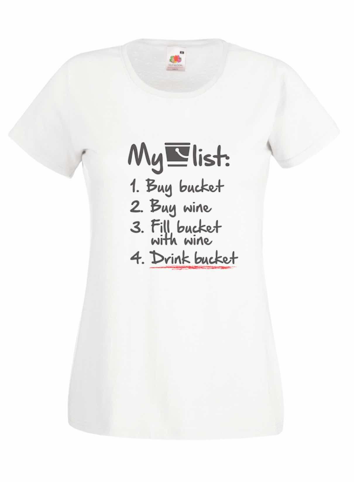 My Bucket List design for t-shirt, hoodie & sweatshirt