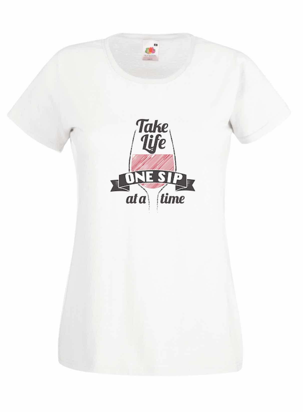 Take Life 1 Sip design for t-shirt, hoodie & sweatshirt