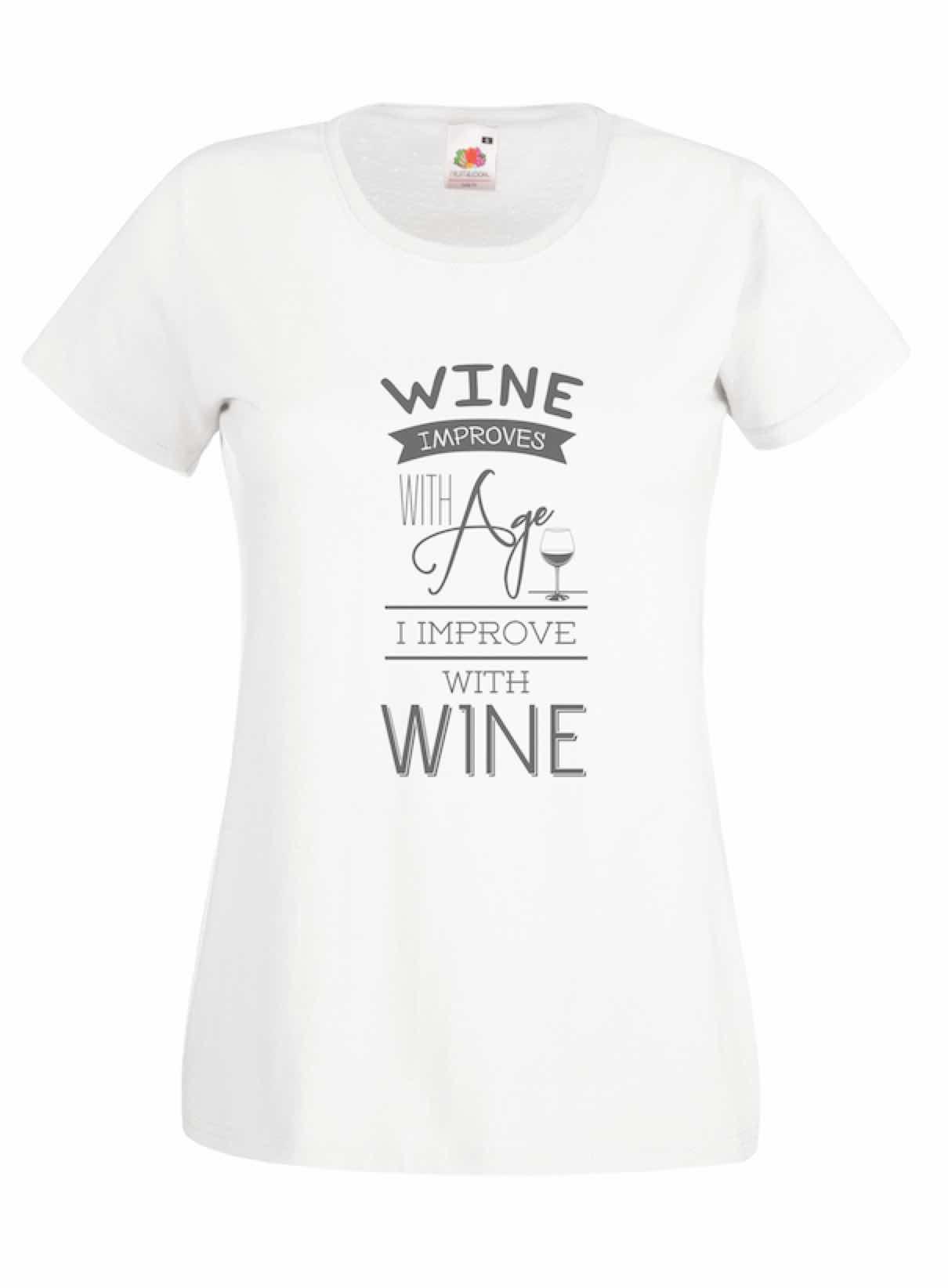 Wine Improves design for t-shirt, hoodie & sweatshirt