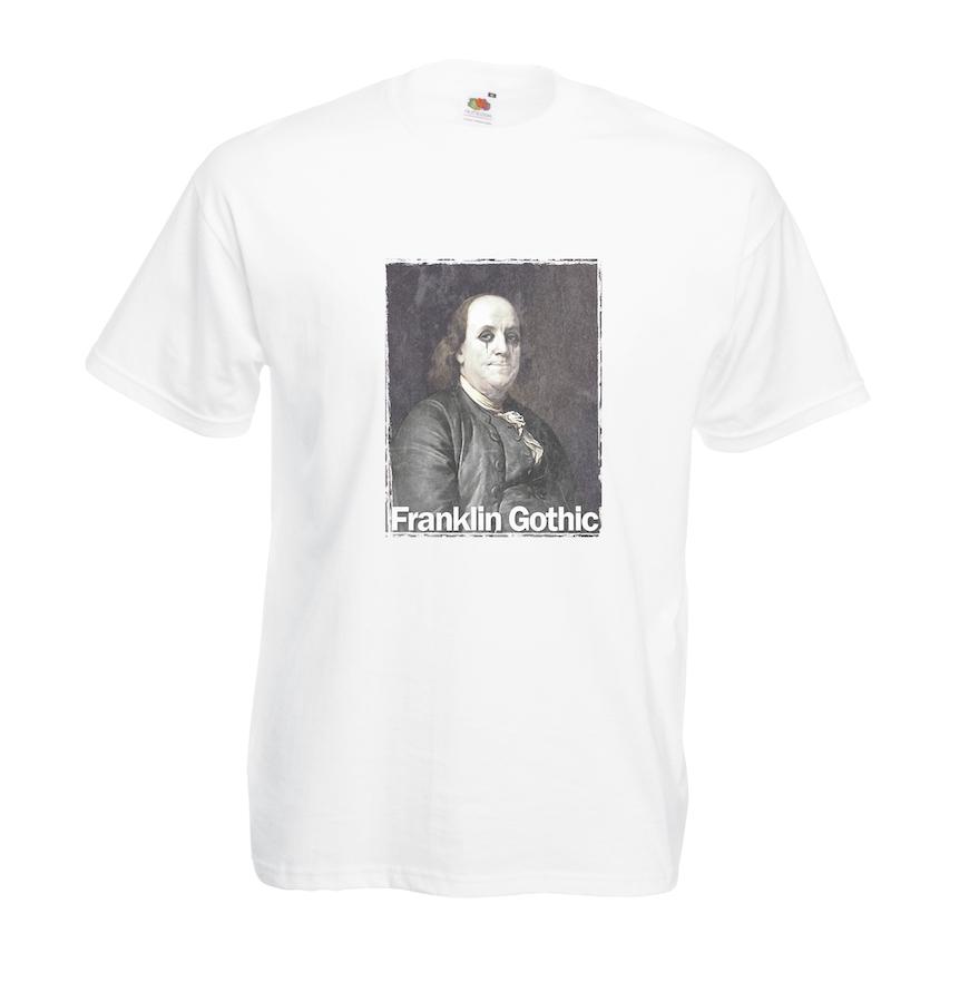 Franklin Gothic design for t-shirt, hoodie & sweatshirt