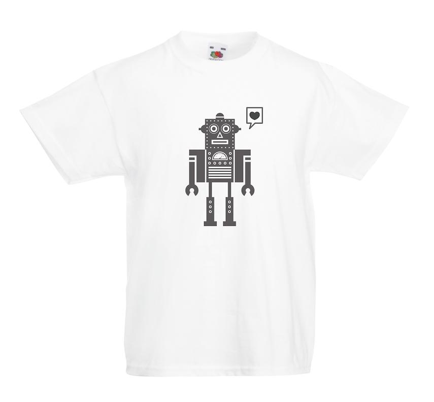 Love Robot design for t-shirt, hoodie & sweatshirt
