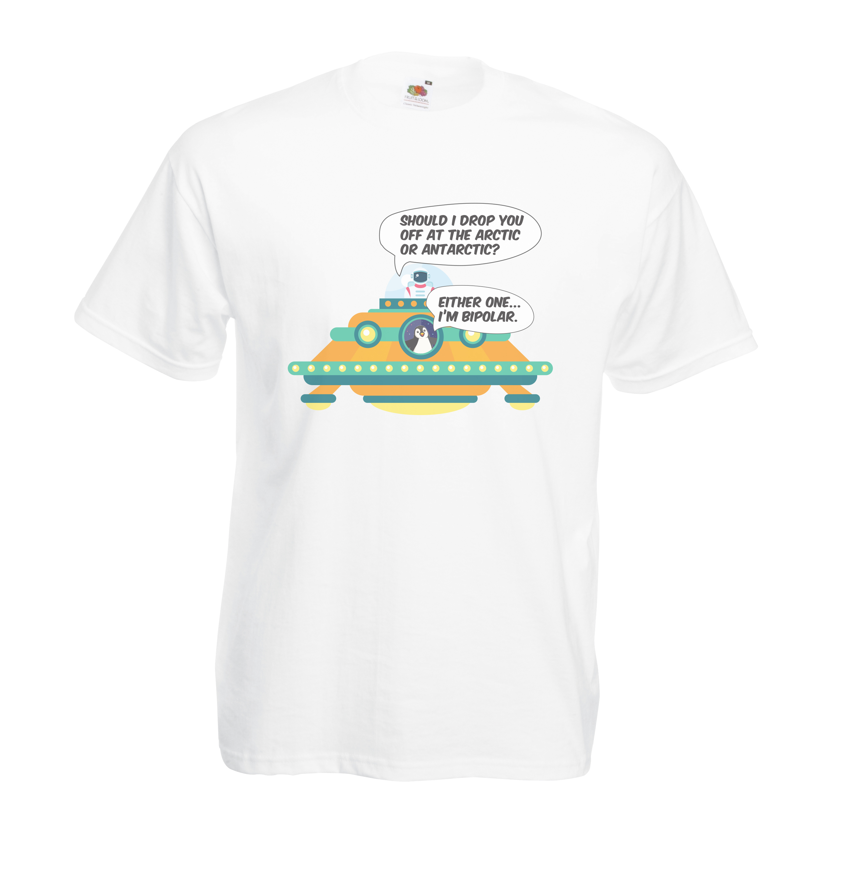 Bi-Polar design for t-shirt, hoodie & sweatshirt