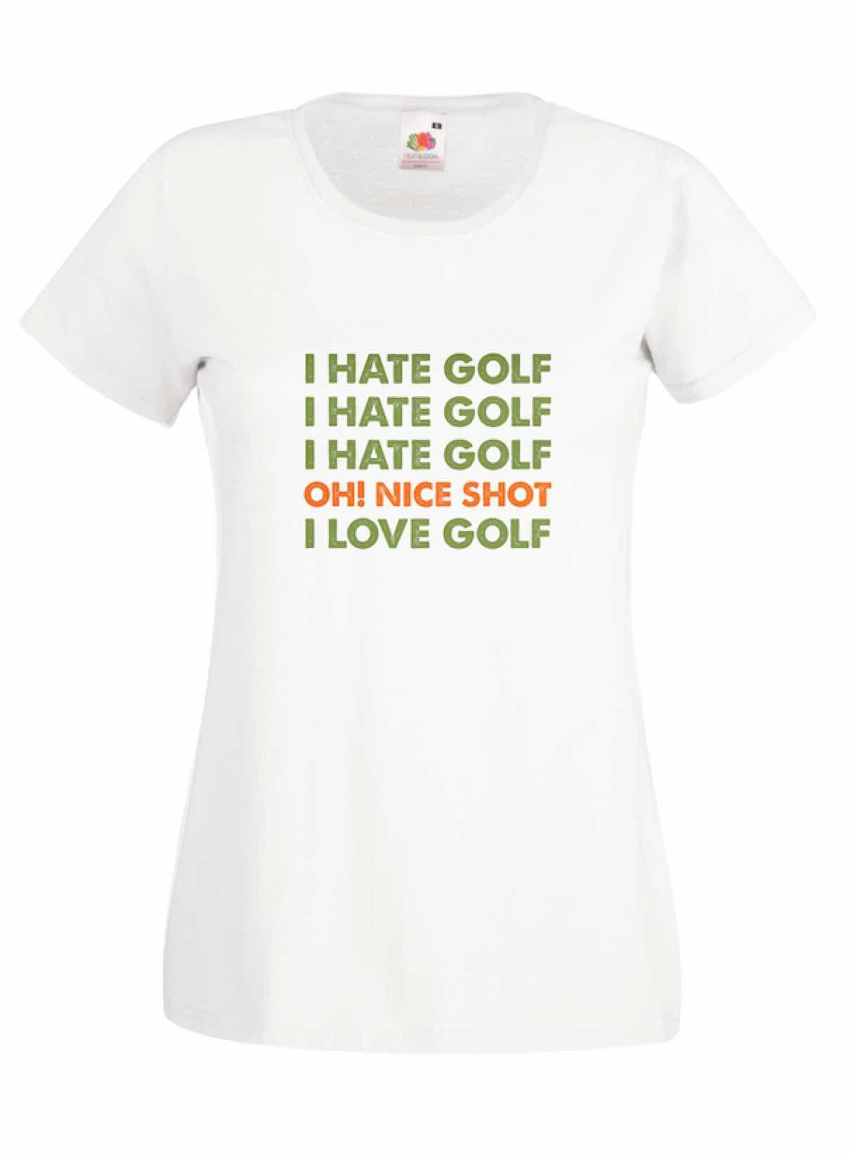 I Hate Golf design for t-shirt, hoodie & sweatshirt