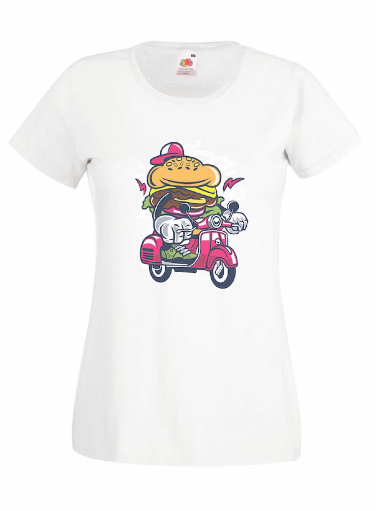 Burger Scooter design for t-shirt, hoodie & sweatshirt