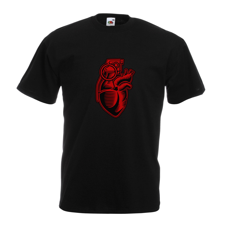 Grenade Heart design for t-shirt, hoodie & sweatshirt