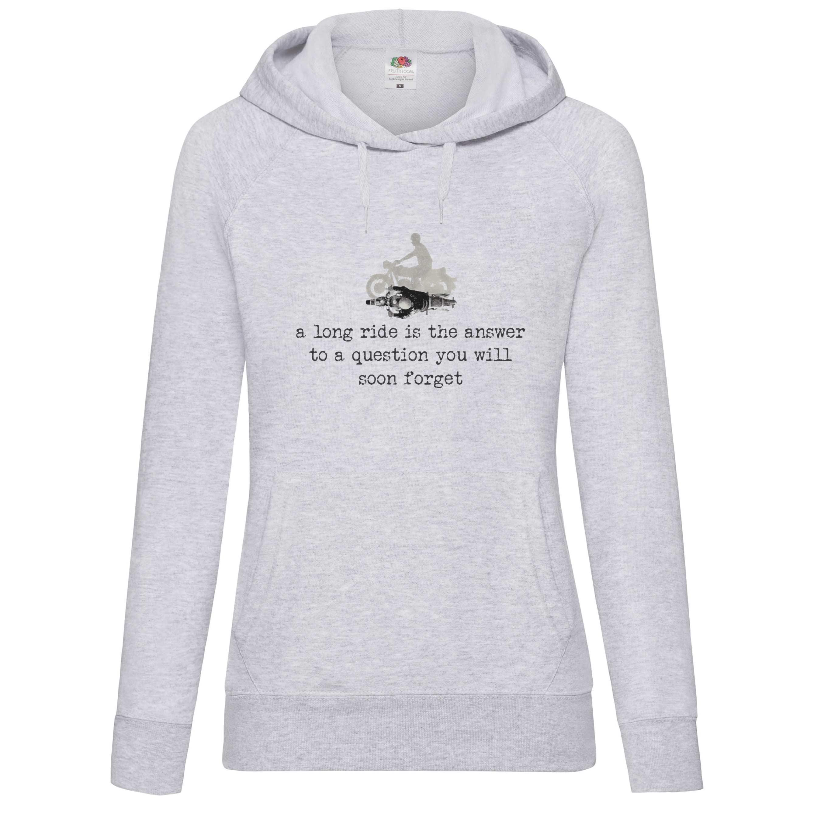 A Long Ride design for t-shirt, hoodie & sweatshirt