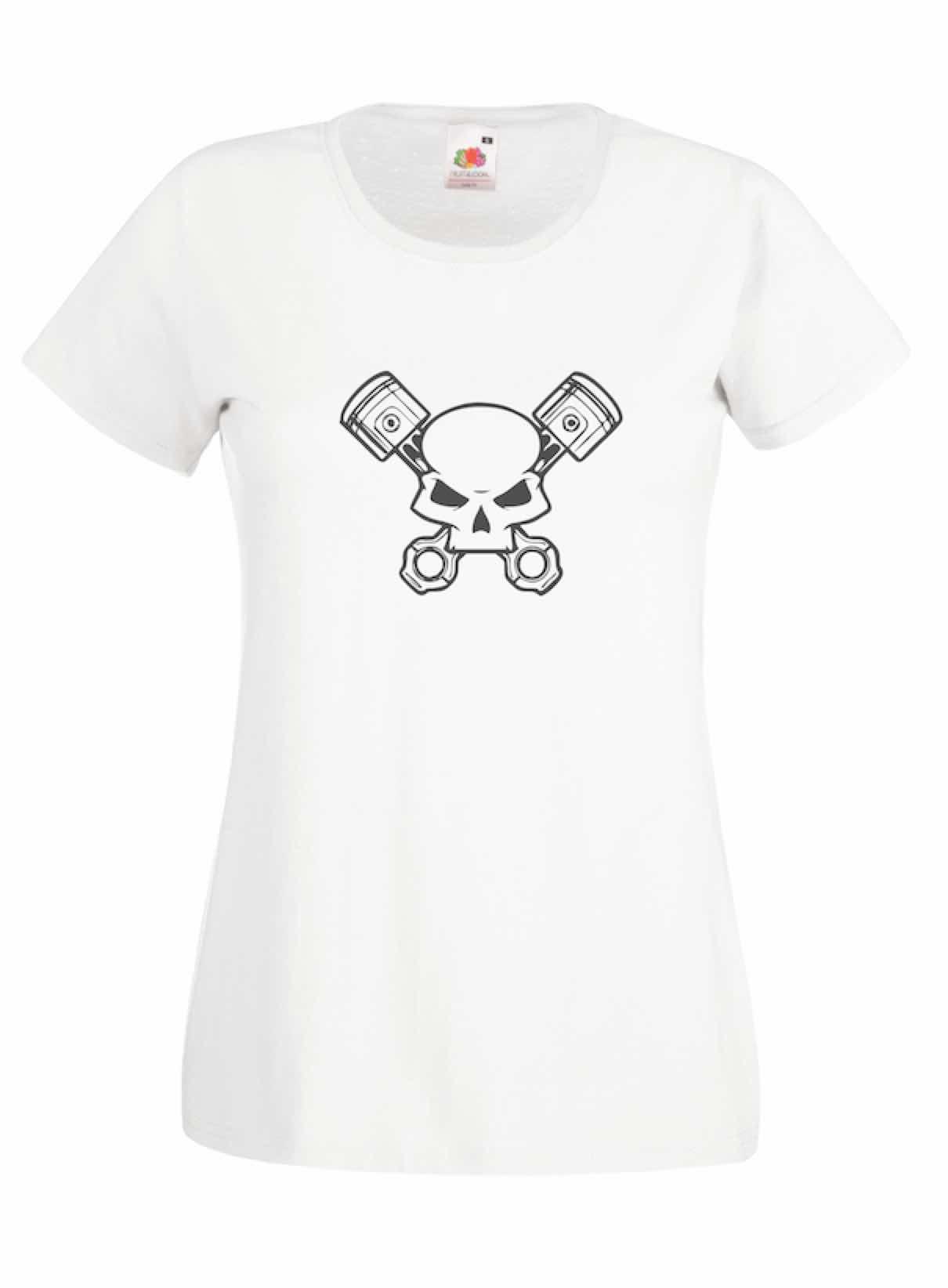 Skull & Pistons design for t-shirt, hoodie & sweatshirt