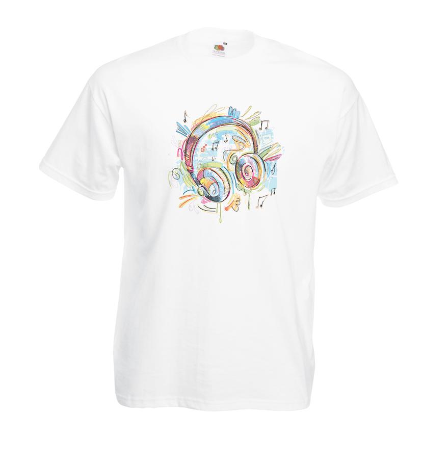 Headphones design for t-shirt, hoodie & sweatshirt