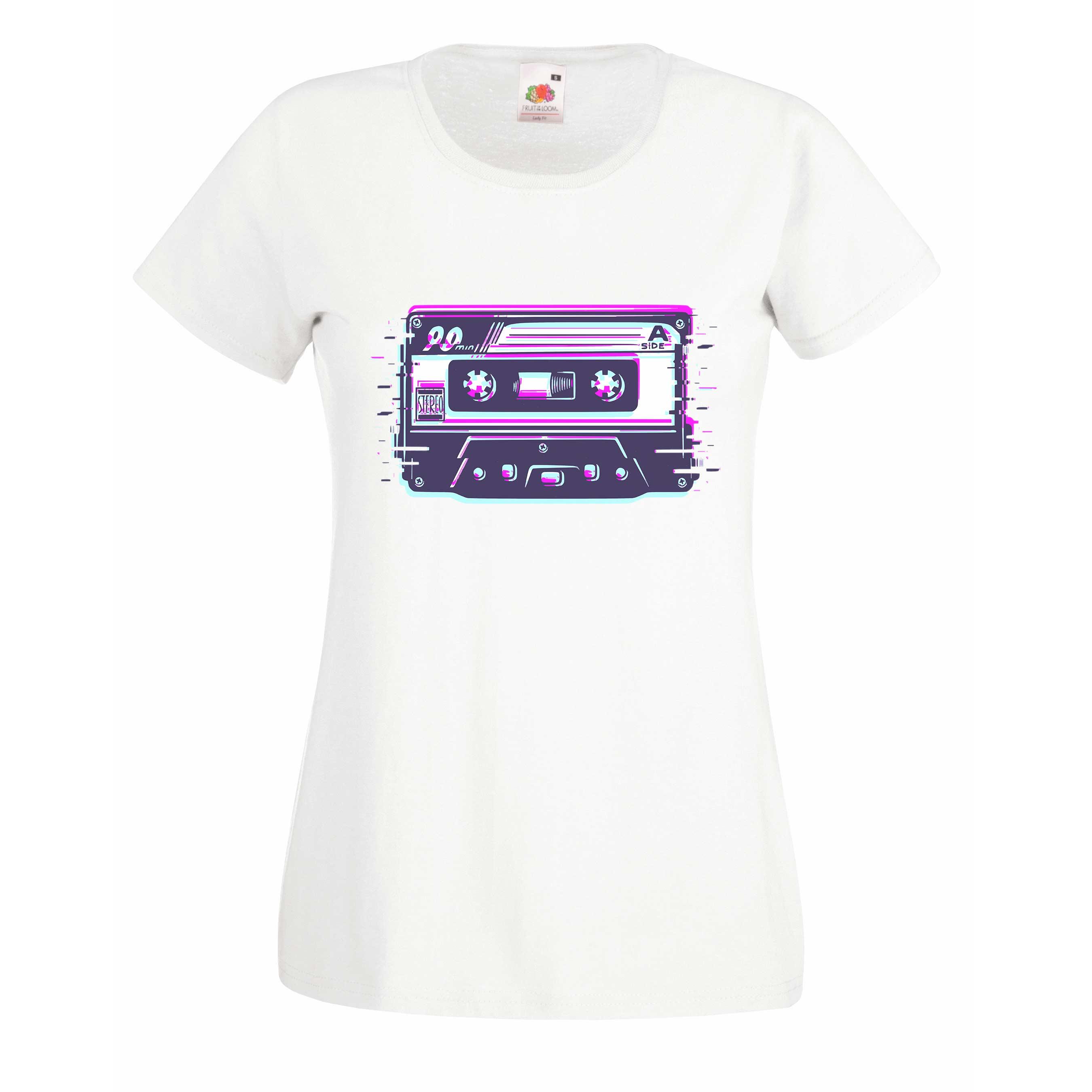 Retro cassette design for t-shirt, hoodie & sweatshirt