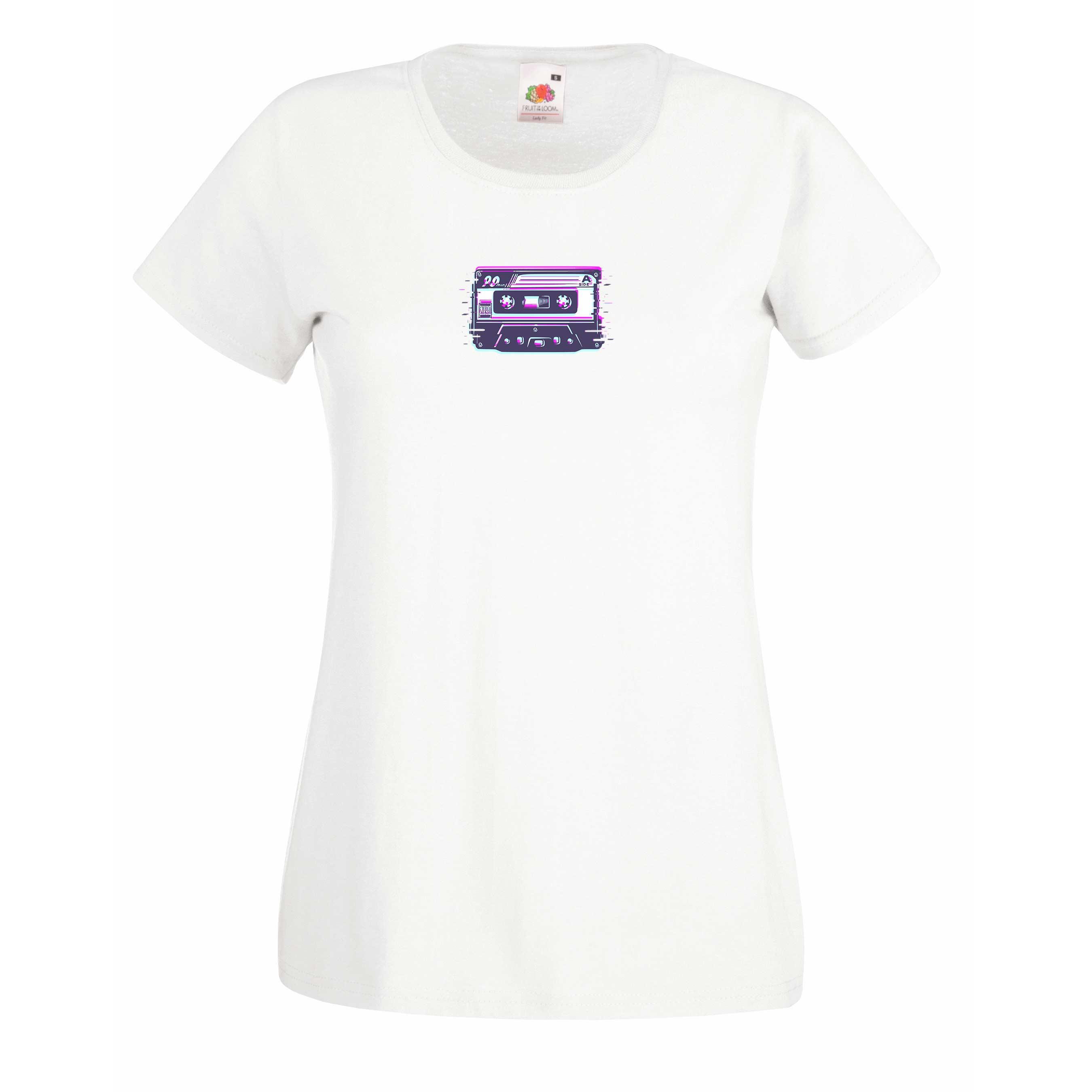 Small cassette design for t-shirt, hoodie & sweatshirt