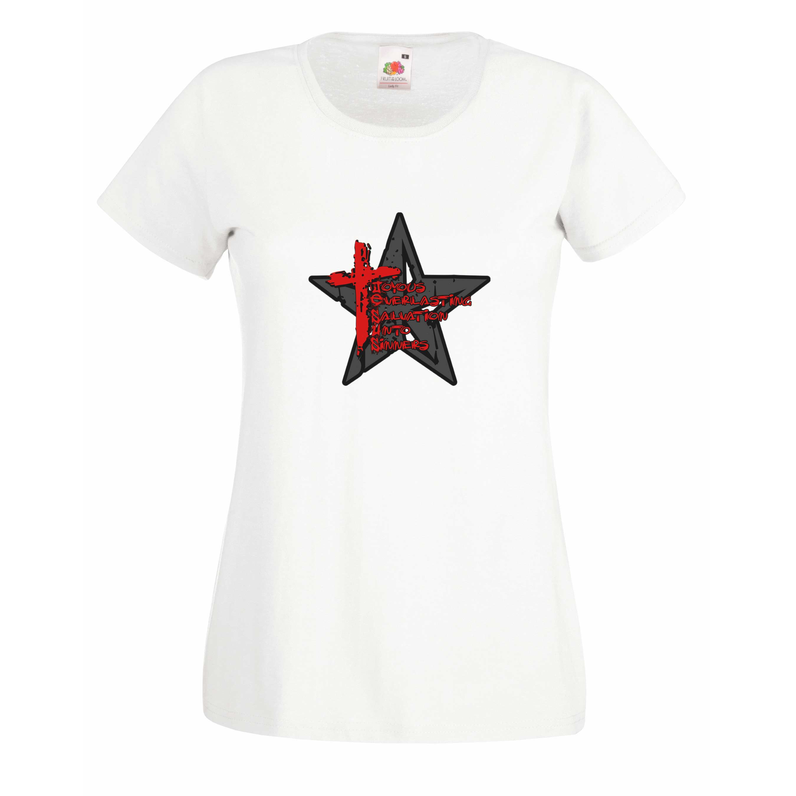 Cross And Star design for t-shirt, hoodie & sweatshirt