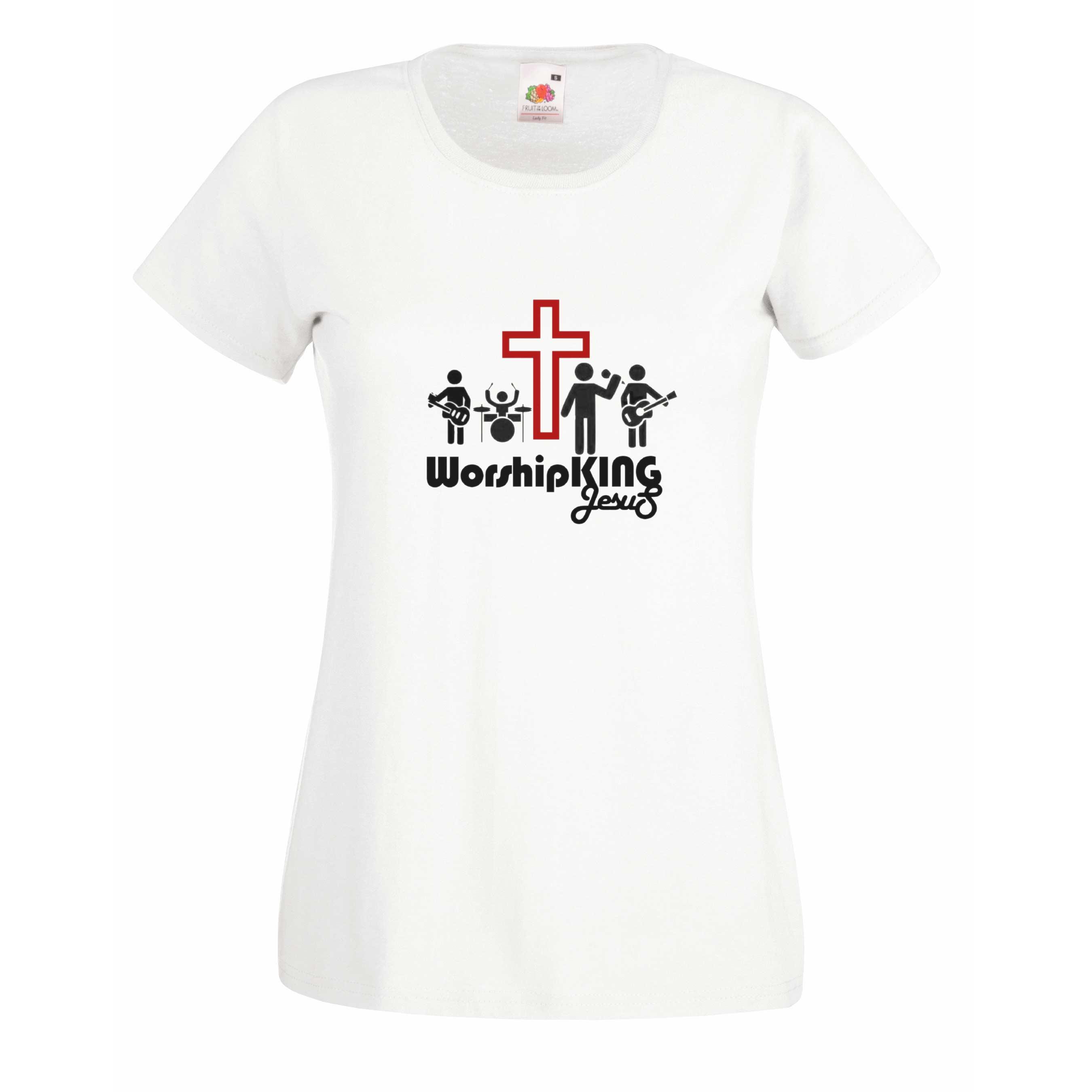 Worship King Jesus design for t-shirt, hoodie & sweatshirt