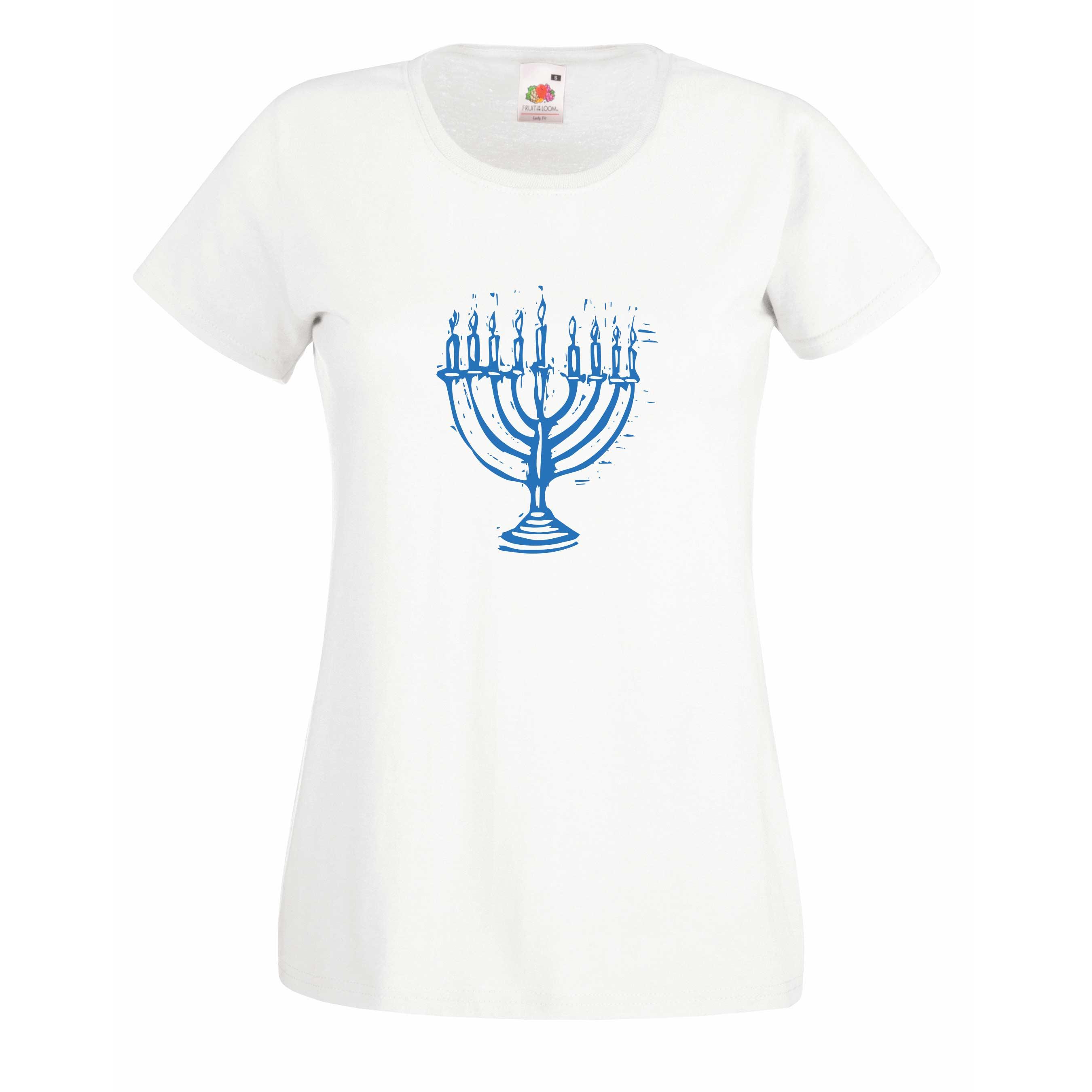 Menorah design for t-shirt, hoodie & sweatshirt