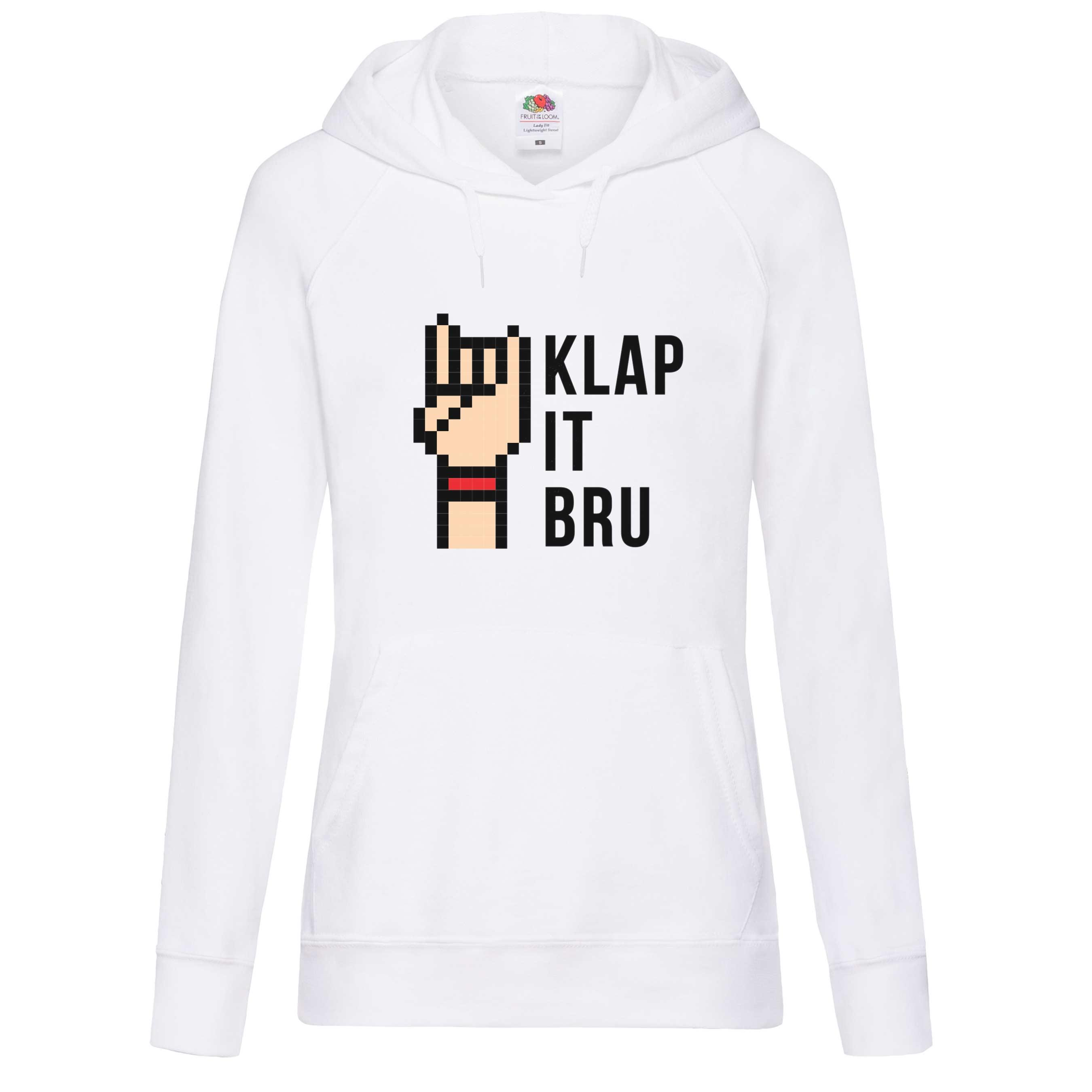 Klap It Bru design for t-shirt, hoodie & sweatshirt