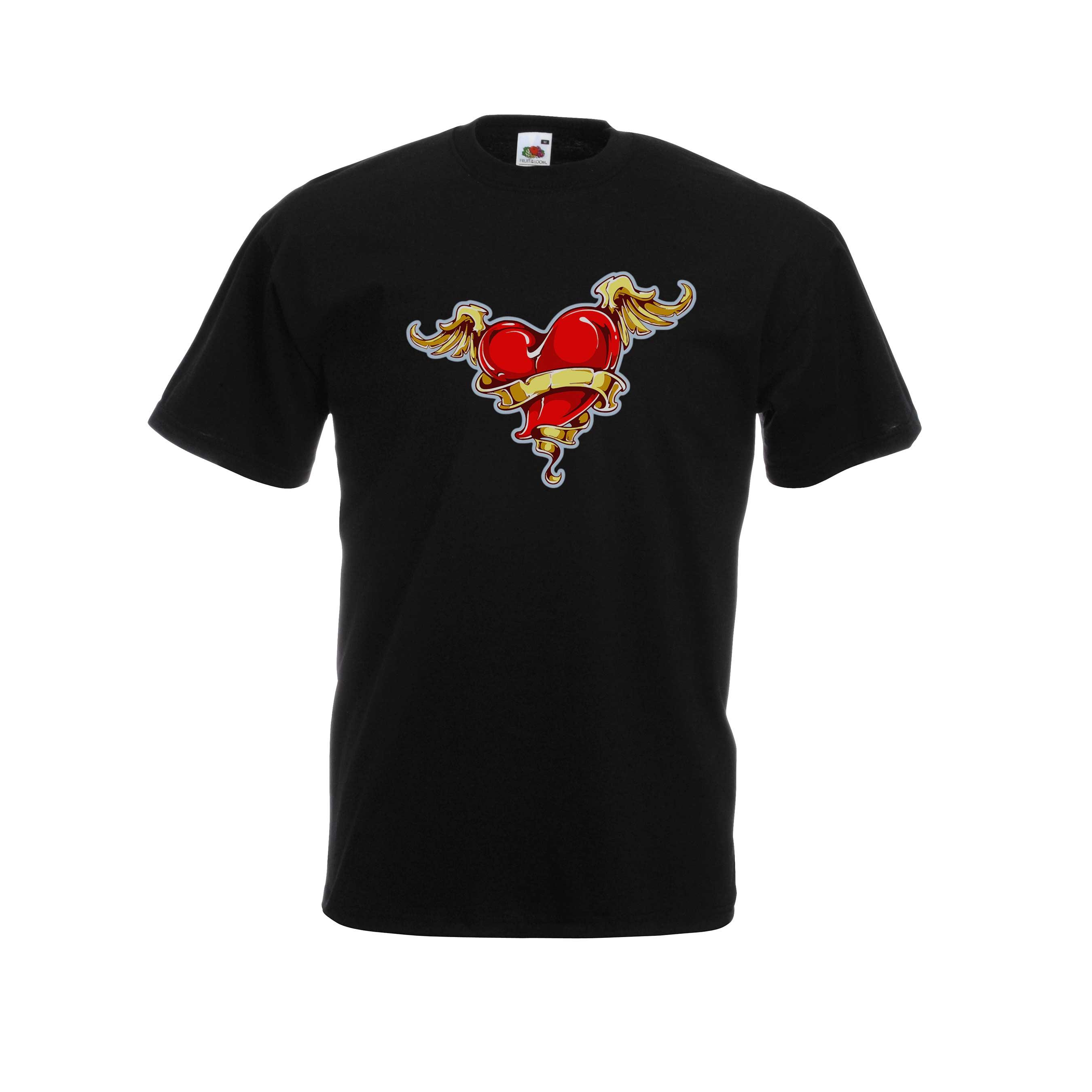 Heart Wings design for t-shirt, hoodie & sweatshirt
